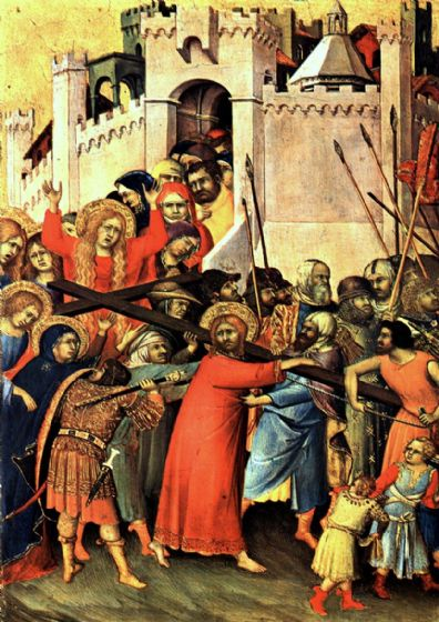 Martini, Simone: Road to Calvary/The Carrying of the Cross. Religious Fine Art Print/Poster. Sizes: A4/A3/A2/A1 (00126)
